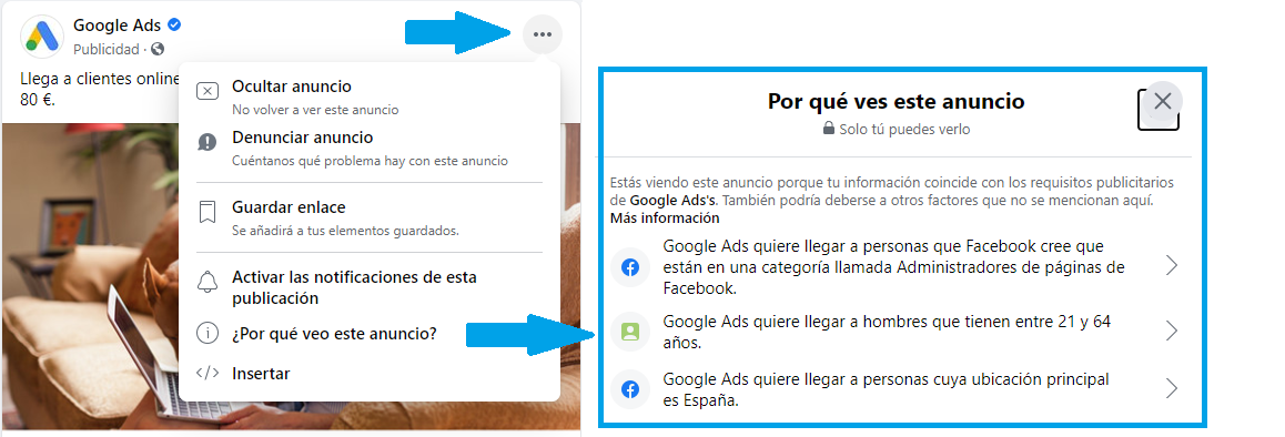 informacion anuncios facebook